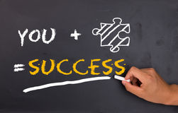 Success factor. Concept on chalkboard royalty free stock photo