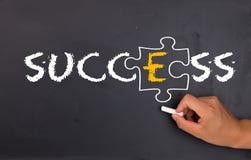 Success factor concept. Success factor:e on chalkboard Stock Photos
