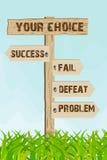 Success or fail way Royalty Free Stock Photo