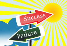 Success and failure Royalty Free Stock Photos