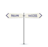 Success and Failure Arrow Road Sign Stock Images