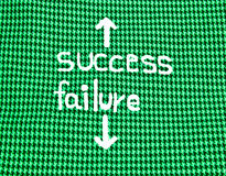 Success or failure Stock Photography