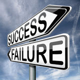 Success or failure be successful or fail Stock Photography