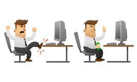 Success and failure businessman cartoon character Stock Photos