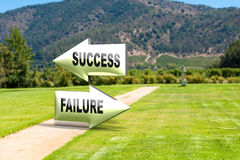 Success or Failure Royalty Free Stock Photos
