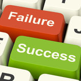 Success And Failure Computer Keys Showing Succeeding Or Failing Royalty Free Stock Photos