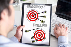 Success and failure concept on a clipboard Stock Image