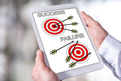 Success and failure concept on a tablet Royalty Free Stock Image