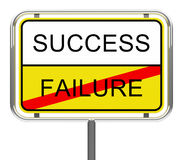 Success and failure Royalty Free Stock Image