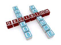 Success and failure decision Stock Photos