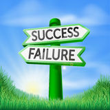 Success or failure decision sign Stock Photos