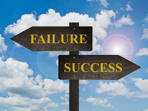 Success and Failure directions. Stock Photos