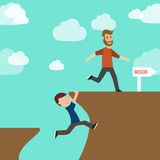Success and failure. Illustrator EPS10 Stock Images