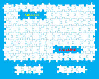 Success failure jigsaw Royalty Free Stock Photos