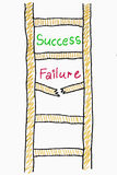 Success failure ladder concept Royalty Free Stock Photos