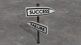 Success or failure. Motivational photo. Your choice Royalty Free Stock Photos