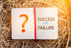 Success or failure on notebook  business concept Royalty Free Stock Photography