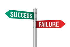Success failure road sign 3d illustration Stock Photo