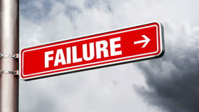 Success of failure road sign pointing to opposite directions. Stock Images