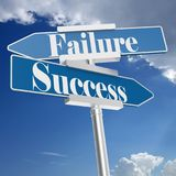 Success or Failure signs Royalty Free Stock Image