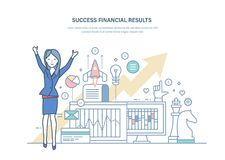 Success financial results, successful business project. Growth of economic indicators. Success financial results, successful business project. Growth economic Stock Photos