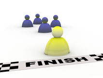 Success finish Royalty Free Stock Photo