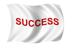 Success flag Stock Photo