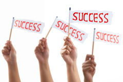 Success flags Stock Photos