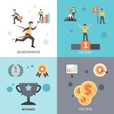 Success Flat Set Stock Image