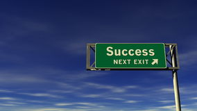 Success Freeway Exit Sign stock video footage