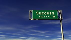Success Freeway Exit Sign stock video