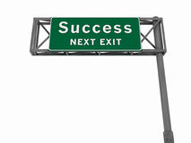 Success - Freeway Sign royalty free stock photo