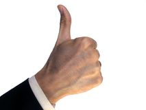 Success gesture Royalty Free Stock Photos