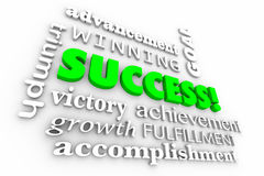 Success Goal Achieved Winner Words Collage Royalty Free Stock Photo