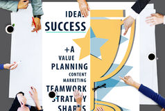 Success Goal Teamwork Value Planning Word Concept Stock Photo