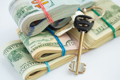 Success and got profit from business with pile of American dolla Royalty Free Stock Photos