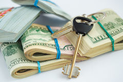 Success and got profit from business with pile of American dolla Stock Images