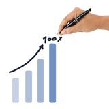 Success graph Stock Photography