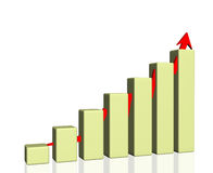 Success graph 3d Stock Photo
