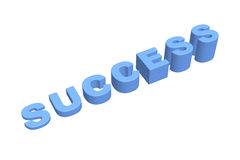 Success graph 3d Royalty Free Stock Photography