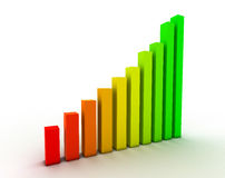 Success graph Stock Image