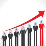 Success graph with businessman s face Stock Images