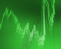 Success graph on green background. Royalty Free Stock Images