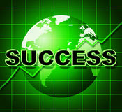 Success Graph Means Winner Resolution And Winning Stock Image