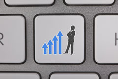 Success Graph Move Up Businessman Background Stock Image