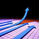Success Graph Represents Financial Report And Analysis Royalty Free Stock Images