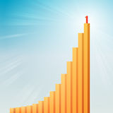 Success Graphic Bars Stock Photo