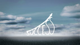 Success graphic growing Royalty Free Stock Photos