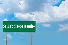 Success green road sign Royalty Free Stock Images