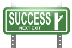 Success green sign board isolated Stock Images